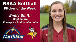 Emily Smith named NSAA Pitcher of the Week | Valley City State University  Athletics