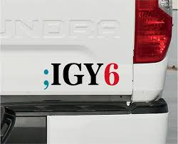 Igy6 Ptsd Veteran Suicide Prevention Decal I Got Your 6 Igy6 Infidel Ebay