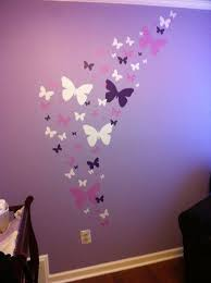 Butterfly Wall Stickers Purple Lilac White Girls Wall Decals Girls Wall Decals Butterfly Wall Decals Girls Room Decals