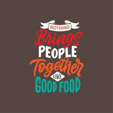 hand drawn lettering design food quotes premium vector