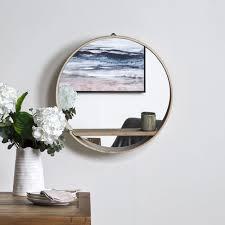 viria wall mirror with shelf