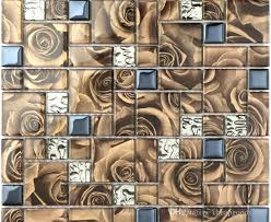 coffee color crystal glass mosaic tile