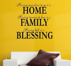 Home Family Blessing Design 1 2wall Decal Wall Vinyl Decal Custom Wall Decal Custom Wall Quote Vinyl Wall Quote Removable Wall Decal Vinyl Wall Quotes Custom Vinyl Wall Decals Vinyl Wall Decals