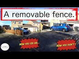 A Fence With Removable Concrete Posts Youtube