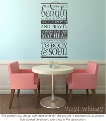 Subway Vinyl Wall Art Everybody Needs Beauty As Well As Bread Places To Play In And Pray In John Muir Vinyl Lettering Mvdin503 Vinylwhimsy On Artfire