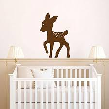 Amazon Com Deer Baby Fawn Silhouette Vinyl Wall Decal Sticker Handmade