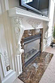 white fireplace mantels