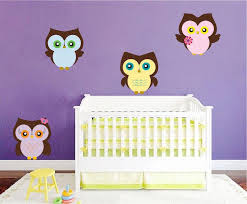 Nursery Owl Wall Sticker Decal Wall Art Cute Bedroom Owls Birds Wall D American Wall Designs