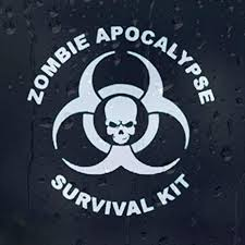 Amazon Com Zombie Apocalypse Survival Kit Vinyl Decal External Fitting Everything Else