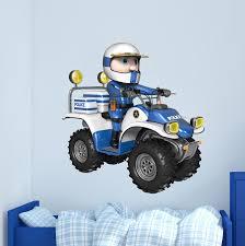 Zoomie Kids Police Quad Wall Decal Wayfair
