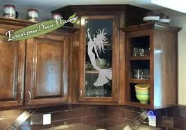 kitchen cabinet glass door with a