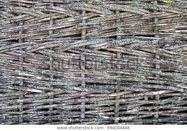 Texture Wooden Fence Woven Twigs Rod Stock Photo Edit Now 694104448