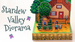 diy stardew valley papercraft diorama