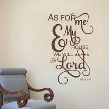 Amazon Com Battoo As For Me And My House Wall Decal Serve The Lord Wall Decal Christian Vinyl Decal Joshua 24 15 Bible Verse Decal Navy Blue 21 5 H X34 W Home Kitchen