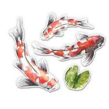 Koi Pond Fish Pretty Set Vinyl Sticker Waterproof Decal Sticker 5 Walmart Com Walmart Com