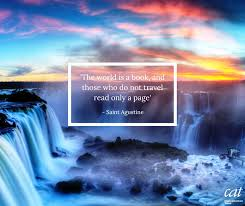 our travel quote comes from the natural world wonder of iguazu