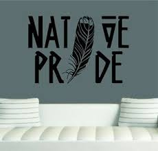 Native Pride Feather Wall Decal Sticker Art 24 X 16 Native Home Decor Ebay