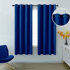 Amazon Com Blue Curtains 63 Inch Length For Boys Room Set 2 Panels Grommet Window Drapes Sun Light Blocking Insulated Thermal Room Darkening Blackout Curtains For Kids Bedroom Royal Dark Bright Blue 52x63