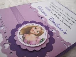 Disney Tangled Rapunzel Inspired Handmade Purple Invitations