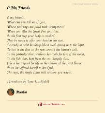 o my friends poem by mirabai
