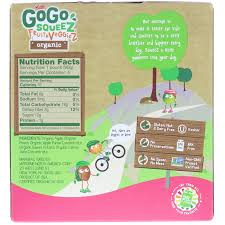 gogo squeez organic fruit and veggiez