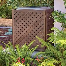 Wooden Lattice Air Conditioner Screen