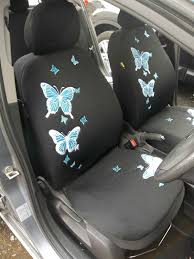 blue erfly car seat covers full set