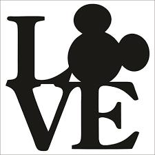 Mickey Mouse Love Large Vinyl Decal Sticker Choose Color Size Disney Ebay Disney Stencils Disney Silhouette Art Disney Silhouettes