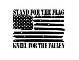 Stand For The Flag Kneel For The Fallen Decal Etsy