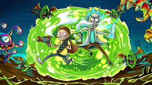 24 rick and morty portal wallpapers