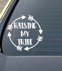 Raising My Tribe Laptop Decal Tumbler Decal Mom Car Decal Etsy