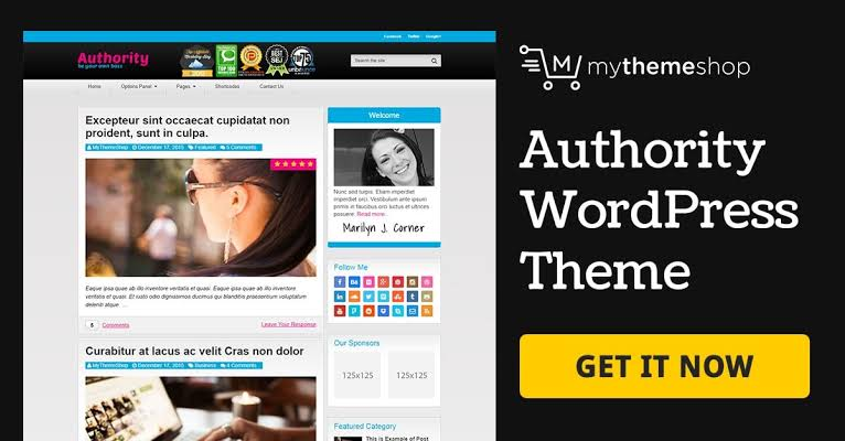 MyThemeShop Authority WordPress Theme