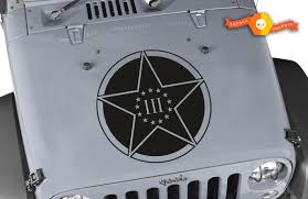 Product Oscar Mike 3 Percenter Star Hood Vinyl Decal 23 Fits Jeep Wrangler Tj Jk Lj