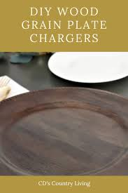 diy wood grain charger plate