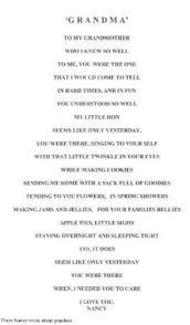 poem for deceased grandmother birthday