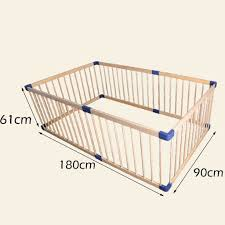 Zaq Large Wooden Baby Playpen Fence 6 Panel Indoor Outdoor Home Toddler Outdoor Girl Boys Safety Play Center Yard Height 61cm Amazon Co Uk Kitchen Home