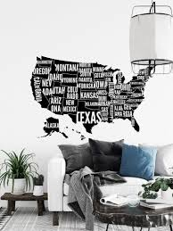Map Of The United States Wall Decal Usa Map Wall Sticker Etsy In 2020 Office Wall Decals Map Decal Gym Wall Decal