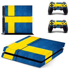 Flag Of Sweden Decal Ps4 Skin Sticker For Sony Playstation 4 Console 2pcs Controllers Consoleskins Co