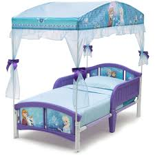 Delta Children Disney Frozen Plastic Toddler Canopy Bed Purple Walmart Com Walmart Com