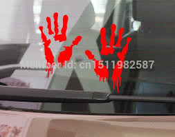 1887558040 8 Colors Bloody Zombie Hand Print Sticker Walking Dead Funny Car Truck Window Bumper Jdm Vinyl Decal 2 Automobiles Motorcycles Exterior Accessories