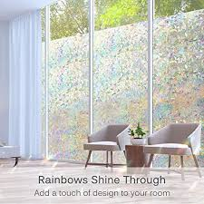 Volcanics Window Privacy Film Static Window Clings Vinyl 3d Window Decals Window Stickers Rainbow Window Film For Glass Door Home Heat Control Anti Uv 17 5 X 78 7 Inches 0742218150305 Buy