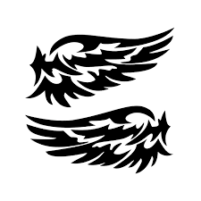 Guardian Angel Wings Lovely Reflective Car Styling Car Stickers Fashion Car Rearview Mirror Vinyl Decal For Strip Subsection Jdm Vinyl Decal Car Stickermirror Vinyl Aliexpress