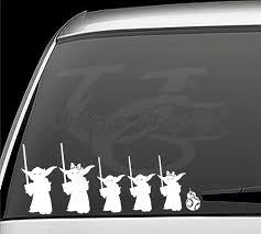 Star Wars Inspired Yoda Family Vinyl Decals Window Stickers Star Wars Decal Star Wars Inspired Star Wars