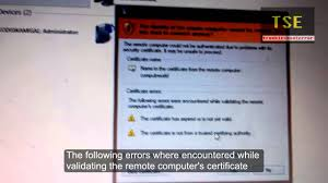 connection security certificate errors