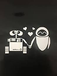 Amazon Com Disney White Decal Sticker Wall E Eve Robot Love Art Car White Decal Sticker Home Improvement