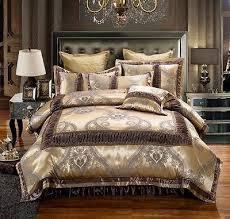 golden brown luxury jacquard duvet