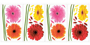Amazon Com Roommates Rmk1553scs Small Gerber Daisies Peel And Stick Wall Decals Multicolor Home Improvement