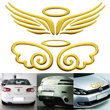 1pc Gold Silver Red Optional For Car Decoration 3d Angel Fairy Wings Auto Car Sticker Emblem Badge Decal Car Logo Decor Sticker Silver Red Silver Silversilver Gold Aliexpress