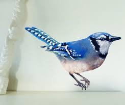 Blue Jay Wall Decal Bird Wall Sticker Get Well Gift Etsy