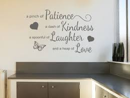 Kitchen Wall Quote A Pinch Of Patience Wall Art Etsy